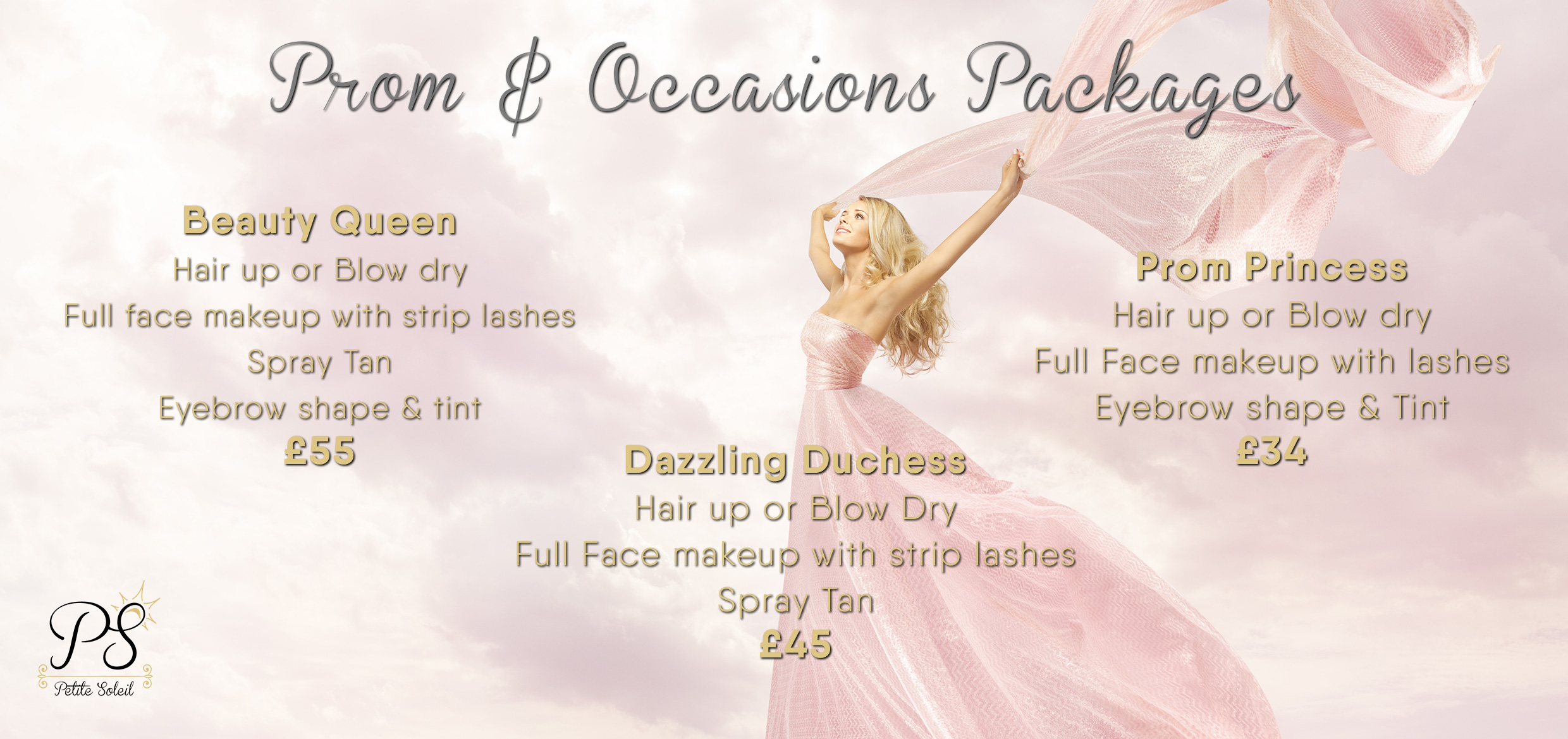 hair and beauty packages / offers