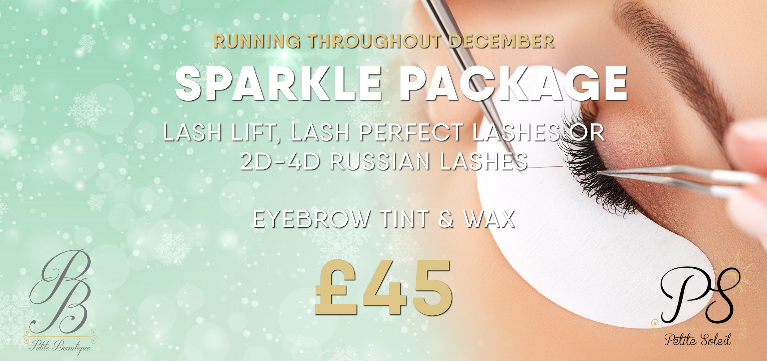 The petite salons 2017 christmas offers announced for Beauty salon xmas offers